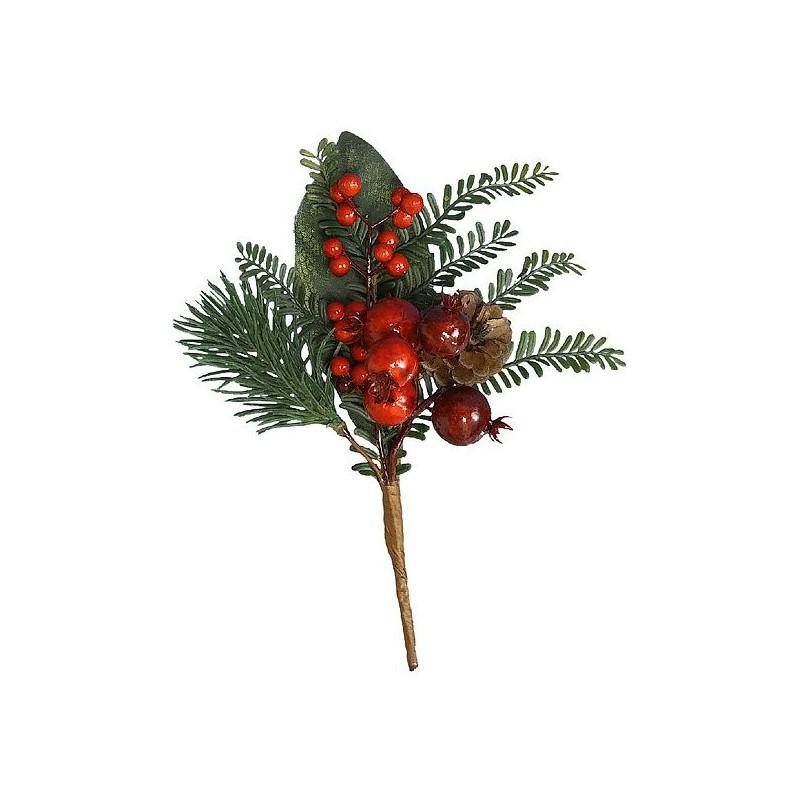Ветка хвойная KAEMINGK ягоды 20 см