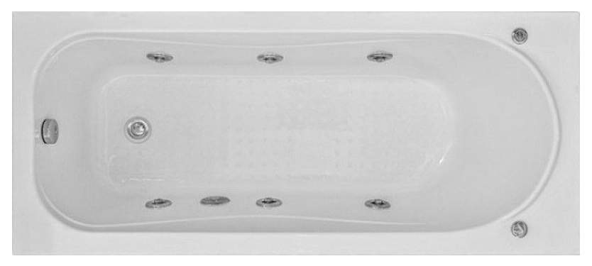 Акриловая ванна BAS Атланта 170х70 c гидромассажем