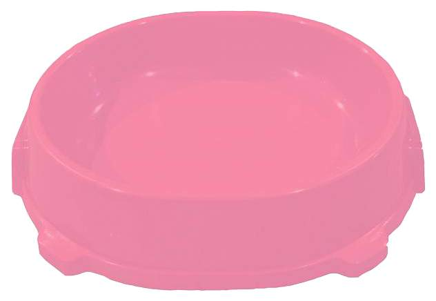 Одинарная миска для кошек и собак FAVORITE, пластик, розовый, 0.22 л