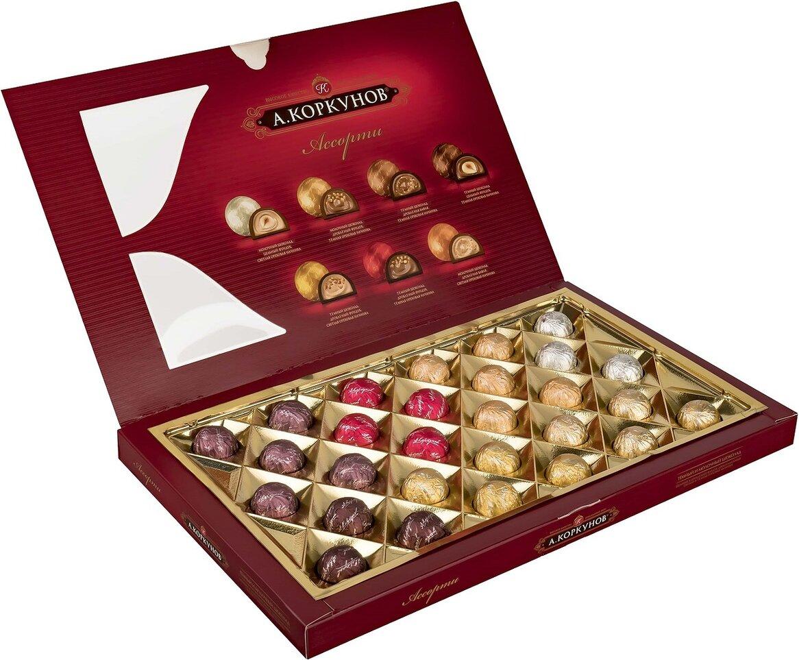 Миниатюра Набор конфет Коркунов ассорти темный и молочный шоколад 256 г №2