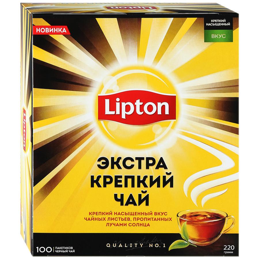 Чай черный Lipton экстра крепкий 100 пакетиков