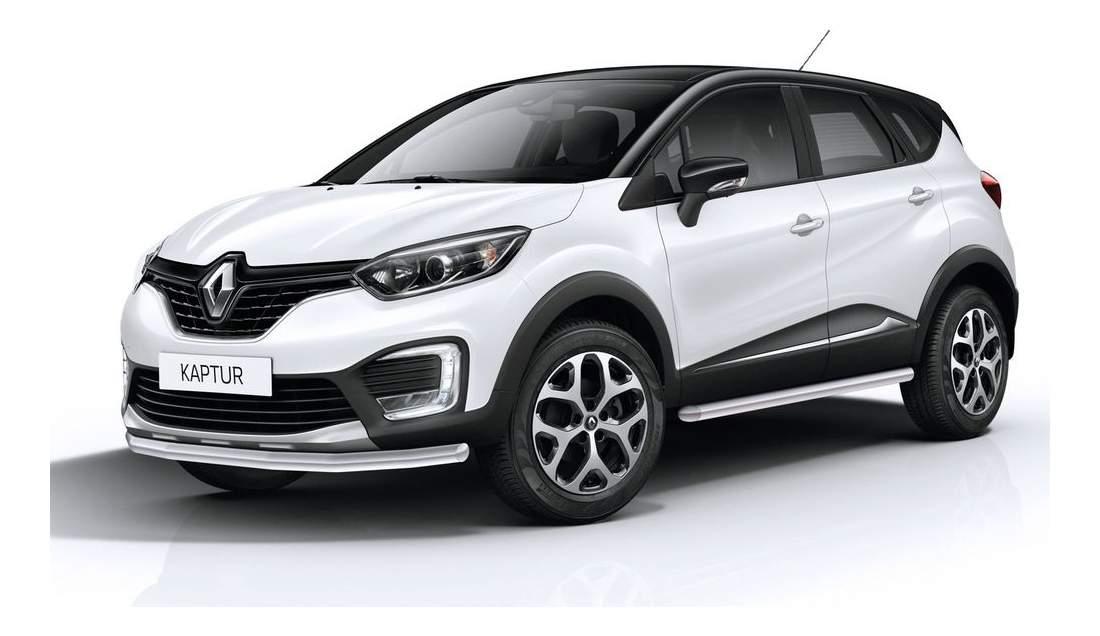 Защита порогов RIVAL для Renault (R.4704.003)