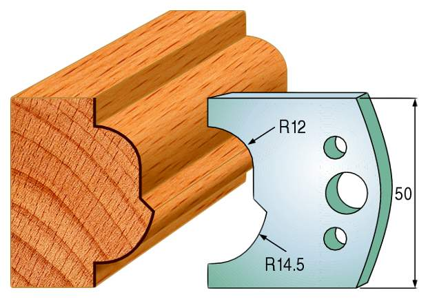 Комплект из 2-х ножей 50x4 SP CMT 690.519