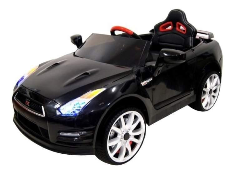 Электромобиль Nissan GTR черный RIVERTOYS