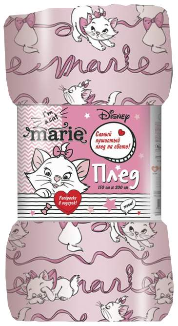 """Плед """"Павлинка"""" Кошка Мари, 150х200, цвет розовый, аэрософт 190гм, пэ100% Павлинка"""