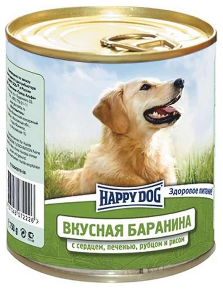 Миниатюра Консервы для собак Happy Dog, баранина, сердце, печень, рубец, 750г №1