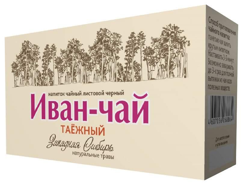 Напиток чайный Сибирская Клетчатка иван-чай листовой черный таежный 20 пакетиков