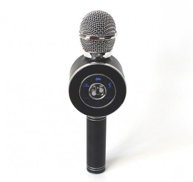 Беспроводной караоке-микрофон WS-668 Black