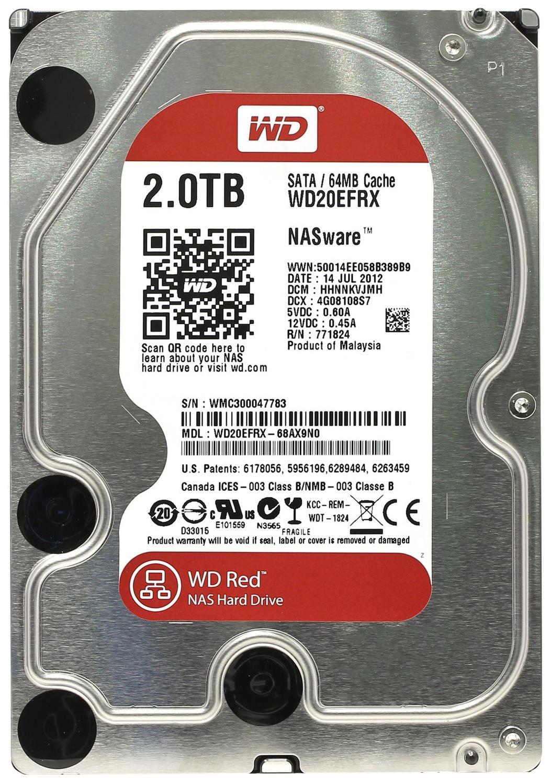 Внутренний жесткий диск Western Digital Red 2TB (WD20EFRX)