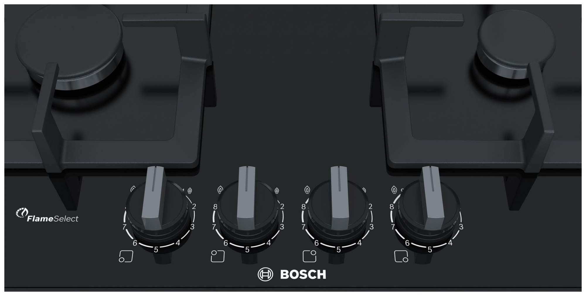 Встраиваемая варочная панель газовая Bosch PPP6A6B20R Black