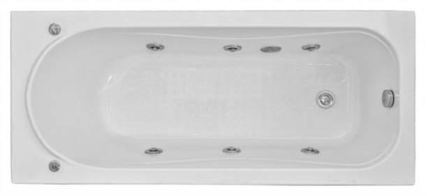 Акриловая ванна BAS Стайл 160х70 c гидромассажем