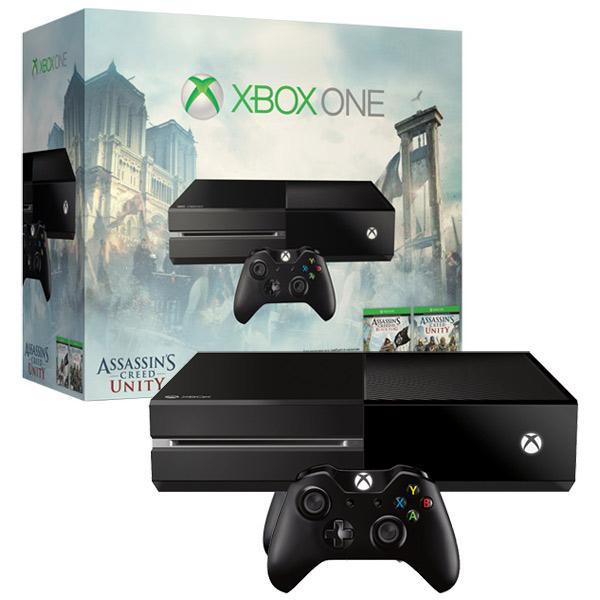 Игровая приставка Microsoft Xbox One 500Gb+Assassins Creed Unity/Black Flag (цифр. версия)