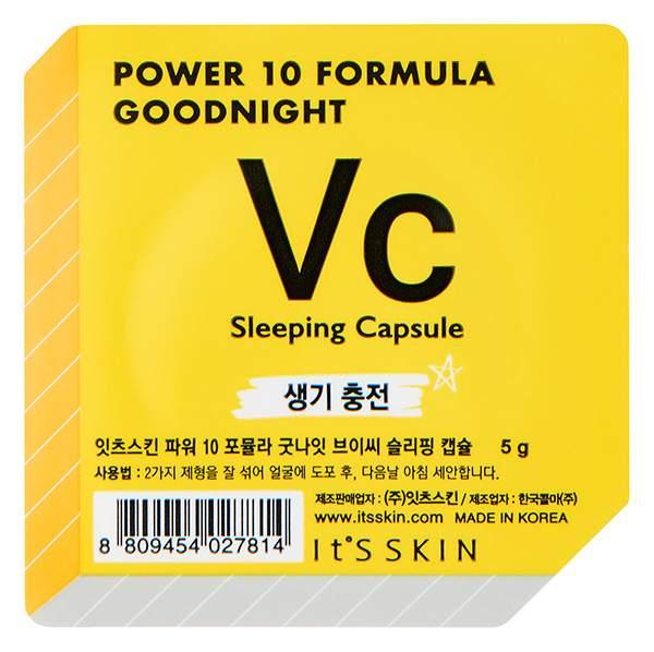 Маска для лица It's Skin Power 10 Formula Goodnight Sleeping Capsule VC Тонизирующая 5 г