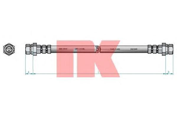 Шланг тормозной системы Nk 8547104