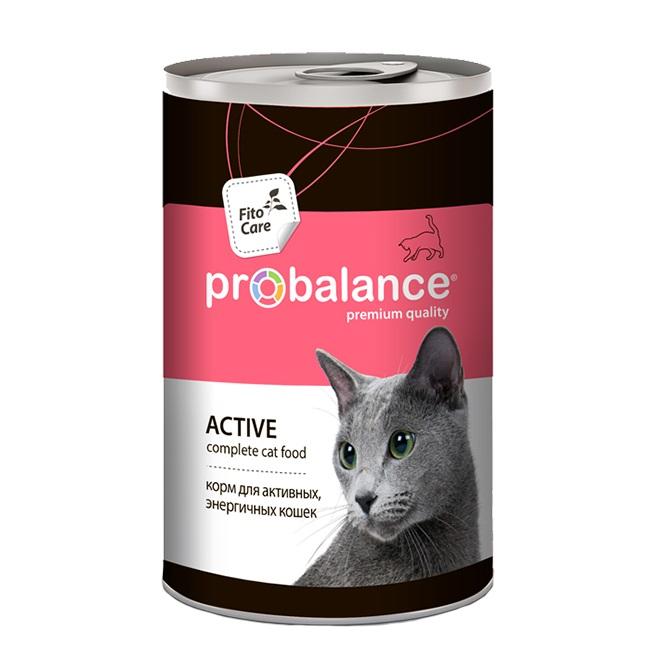 Консервы для кошек ProBalance Active, курица, 12шт, 415г
