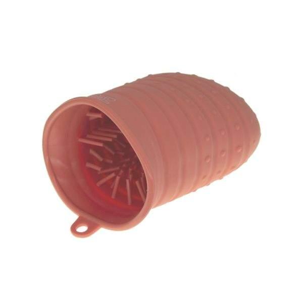 Лапомойка для собак силиконовая, большая, красная