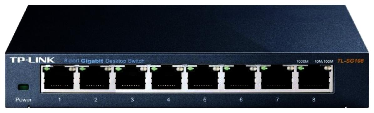 Коммутатор TP-LINK TL-SG108 Черный
