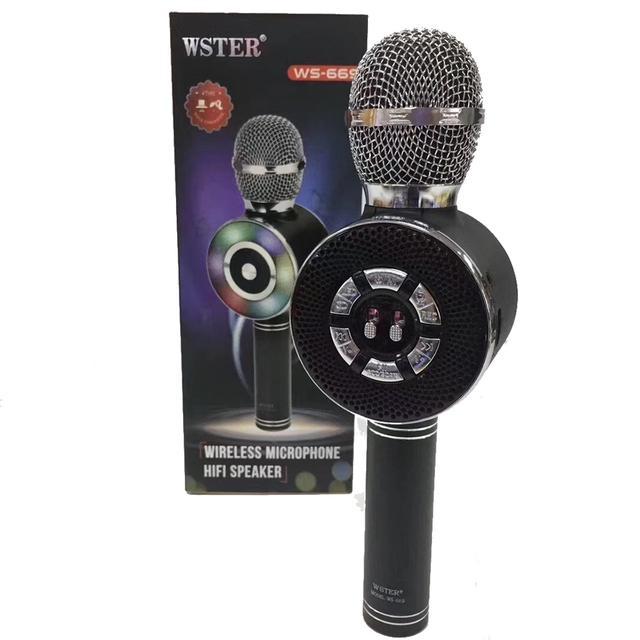 Беспроводной караоке-микрофон WS-669 Black