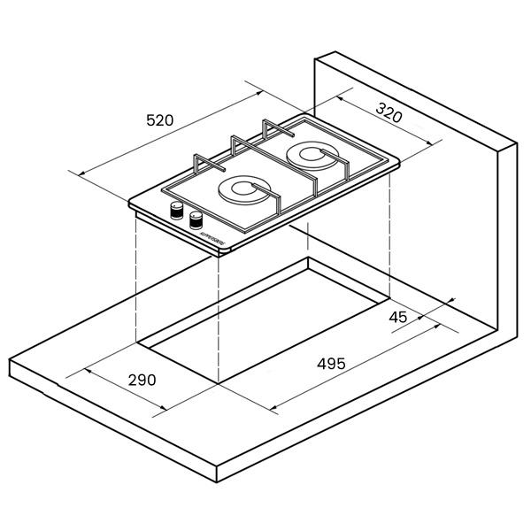 Встраиваемая варочная панель газовая KUPPERSBERG FQ3TG S Black/Silver