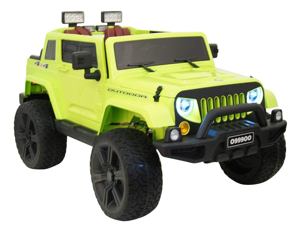Электромобиль Jeep Wrangler зеленый RIVERTOYS