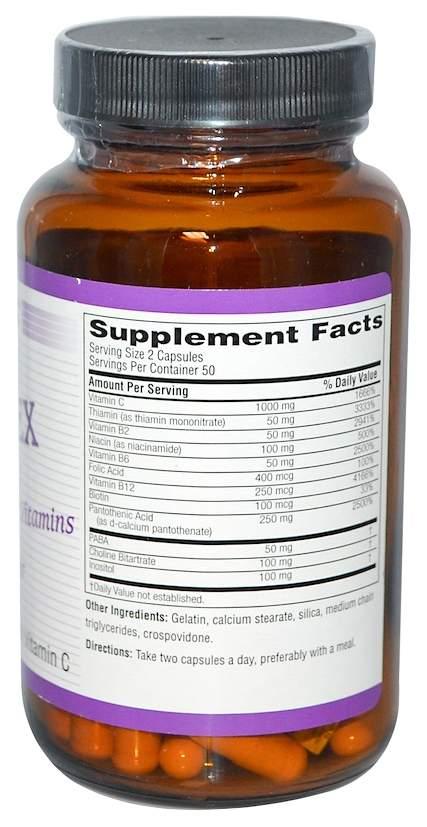Витаминно-минеральный комплекс Twinlab Stress B-Complex 100 капсул