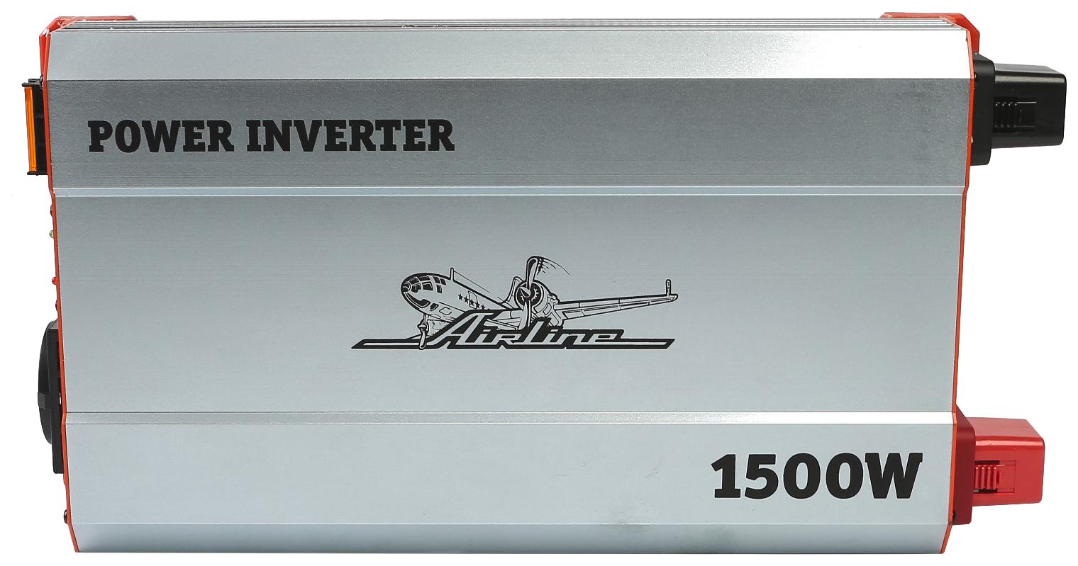 Автомобильный преобразователь напряжения Airline API-1500-10 24В-220В 1500 Вт