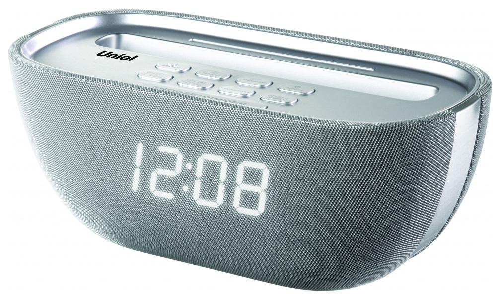 Радио-часы UNIEL UTR-25WSU Серебристый Белый
