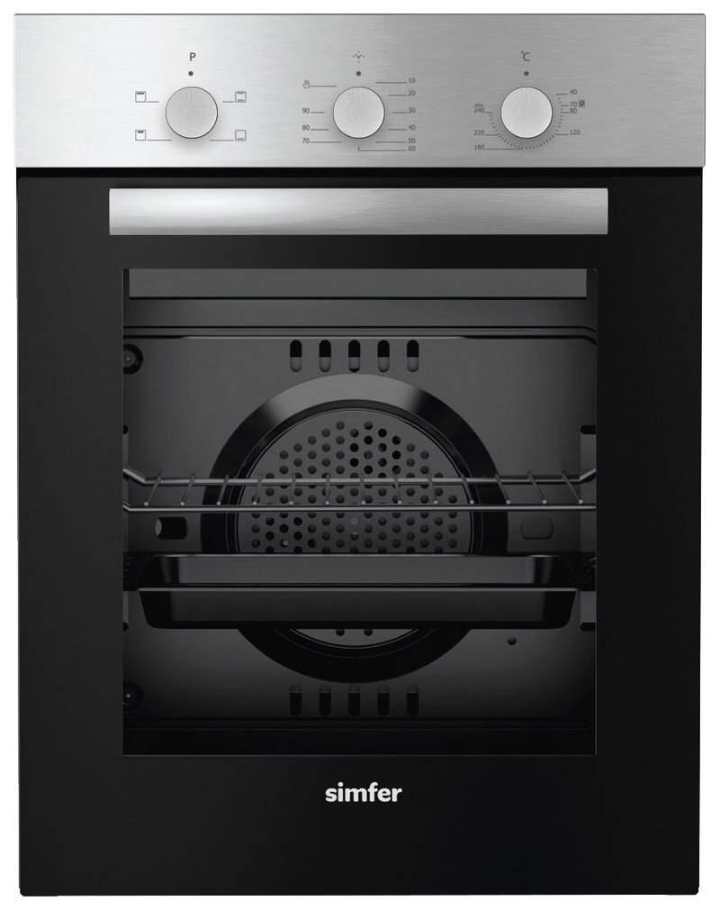 Встраиваемый электрический духовой шкаф Simfer B4EM14011 Silver