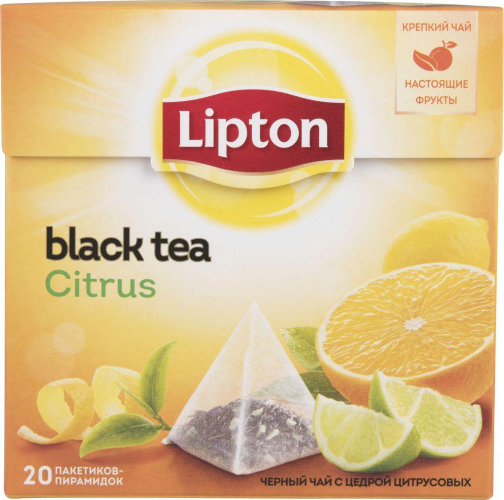 Чай черный Lipton сitrus 20 пакетиков