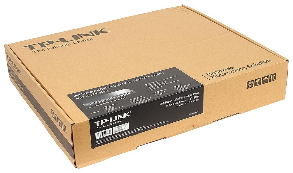 Коммутатор TP-LINK T1600G-52PS Black