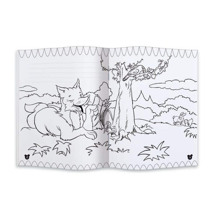 картинка сказки лиса и ворона черно белая зелень растения рекомендуется