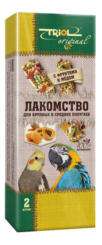 Лакомства для птиц Triol с фруктами и мёдом, для крупных и средних попугаев, TF-20700