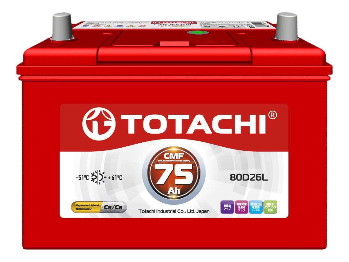 Аккумулятор автомобильный автомобильный TOTACHI 4589904929816 75 Ач