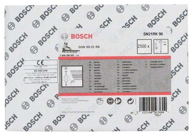 Гвозди для электростеплера Bosch GSN 90-21 RK, SN21RK 90 2608200031