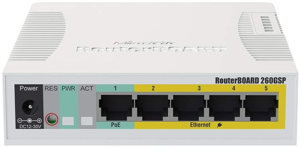 Коммутатор Mikrotik CSS106-1G-4P-1S 24-портовый