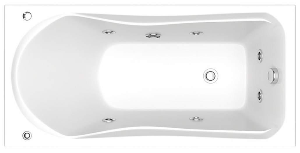 Акриловая ванна BAS Бриз 150х75 c гидромассажем FLAT