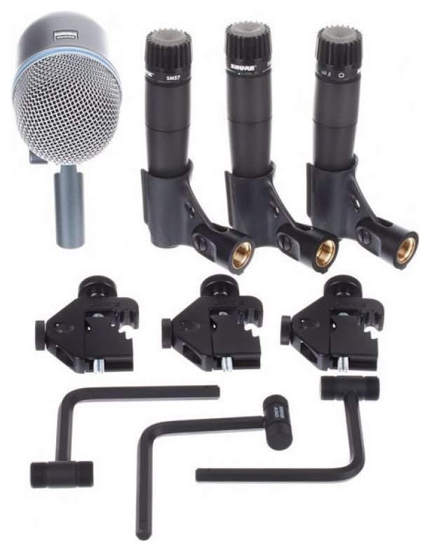 Универсальный комплект микрофонов Shure DMK57-52 для подзвучивания барабанов