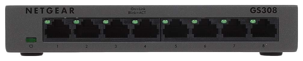 Коммутатор NetGear GS308-100PES Черный