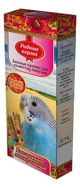 Лакомства для птиц Родные Корма палочки витаминные, 1шт