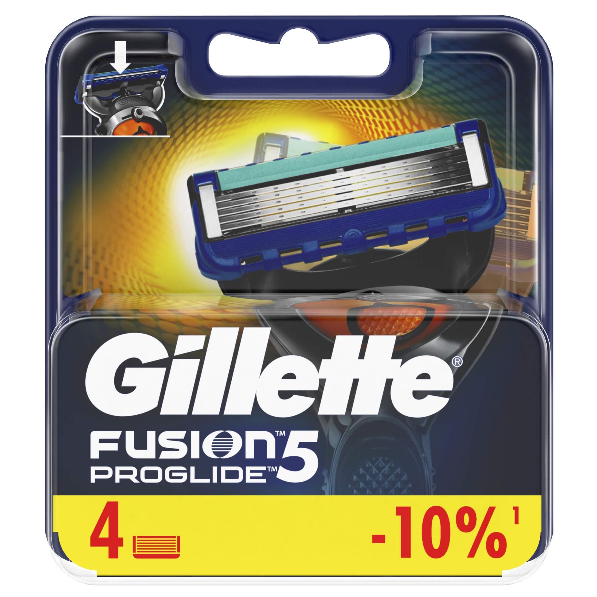 Сменные кассеты Gillette Fusion5 ProGlide 4 шт