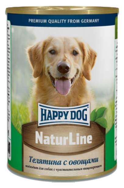 Консервы для собак Happy Dog NaturLine, с телятиной и овощами, 400г