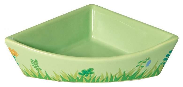 Одинарная миска для грызунов Triol, керамика, зеленый, 0.045 л