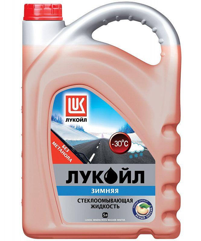 Жидкость стеклоомывателя Лукойл, -30°С, 5 л