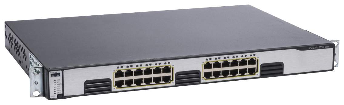 Коммутатор Cisco Catalyst WS-C3750G-24T-S Черный