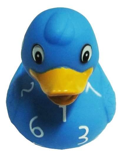 Игрушка для купания Creative Studio Резиновый утенок: голубой в циферку