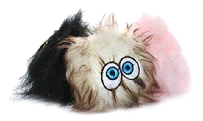 Пищалка для собак Silly Squeakers, набор из 3 маленьких мячей, черный, коричневый, розовый