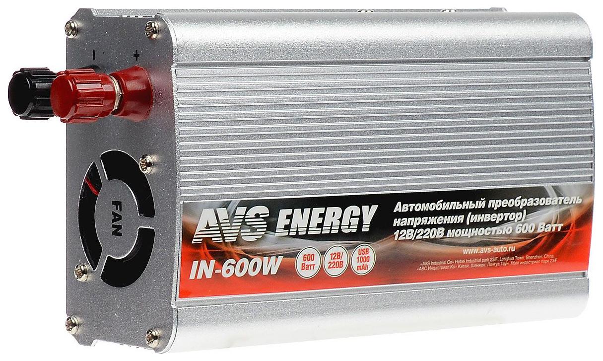 Автомобильный преобразователь напряжения AVS 12В-220В 600Вт BP136PFS