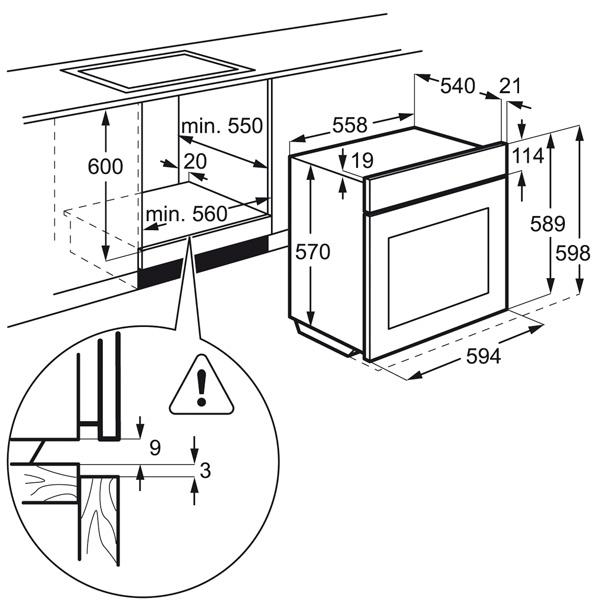 Встраиваемый электрический духовой шкаф Electrolux EZC52430AX Silver