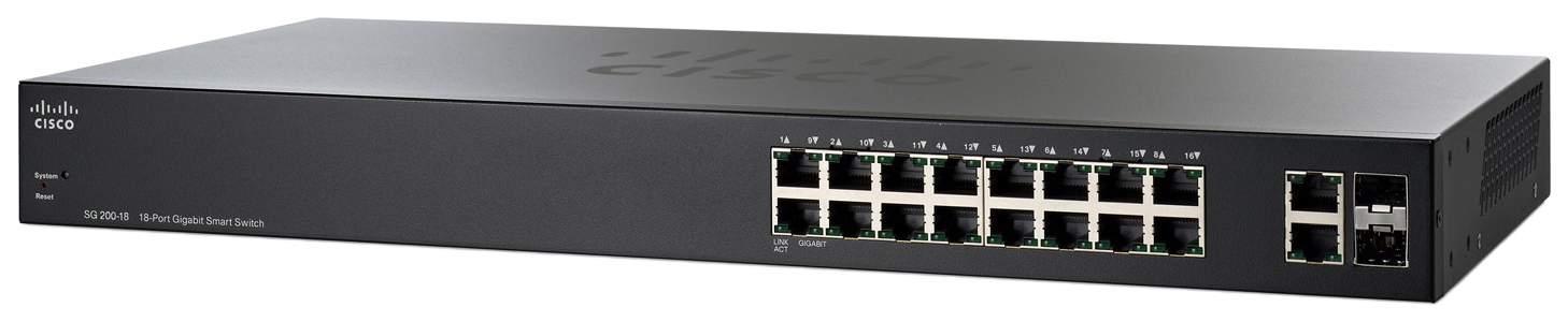 Коммутатор Cisco Small Business 200 Series SG200-18 Черный