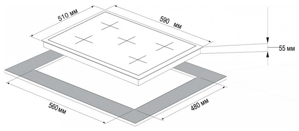 Встраиваемая варочная панель газовая Korting HG 697 CX Silver